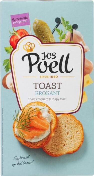 Jos Poell Extra krokante toast rond (100g)