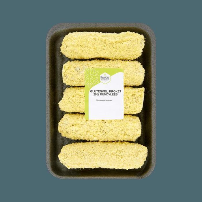 Diepvries Specialist Glutenvrij Kroket 20% Rundvlees 5 x 80g (80g)