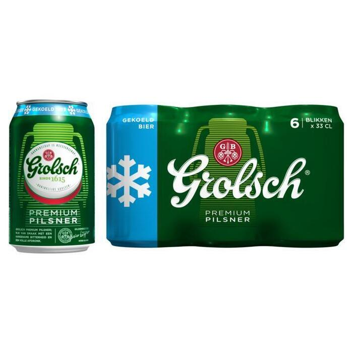 Grolsch Bier gekoeld blik 6 x 33 cl (6 × 33cl)