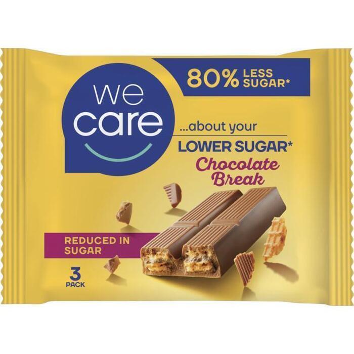 We Care Chocolate Break Wafels 3 x 21,5 g (64.5g)