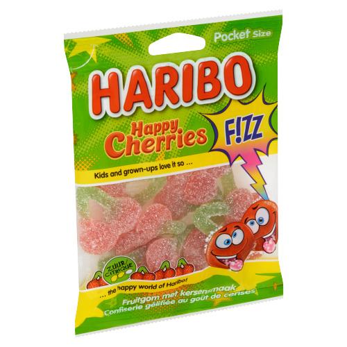Haribo Happy Cherries F!ZZ Pocket Size 70 g (70g)