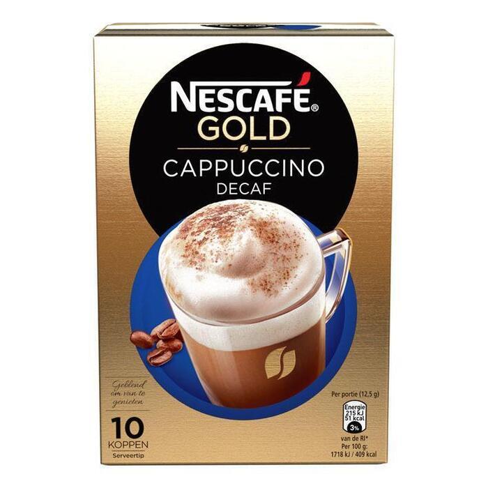 Cappuccino gold decaf 10 sticks (Stuk, 10 × 125g)