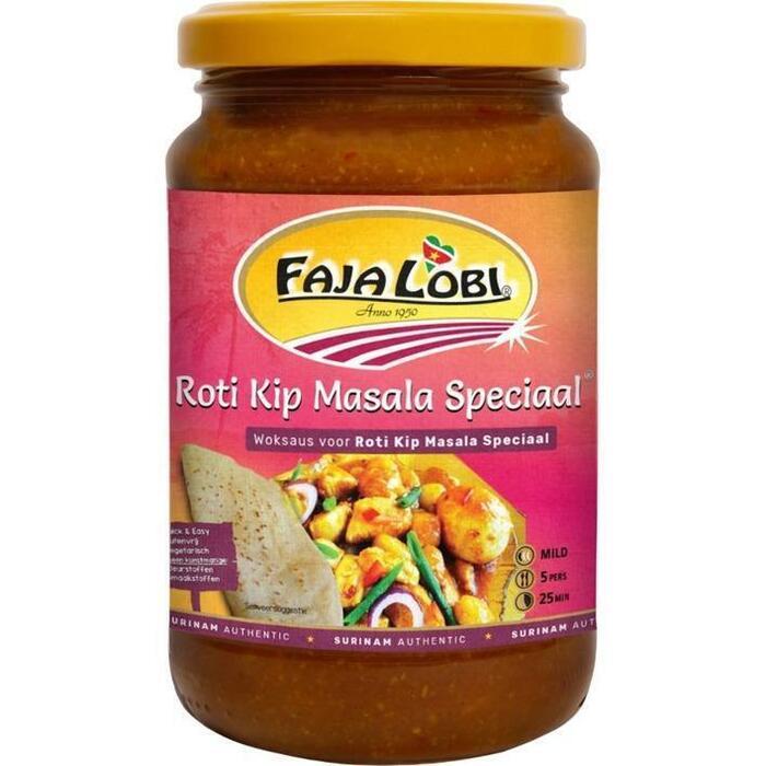 Faja Lobi Roti Masala Special Woksaus voor Kip Masala Special 360ml (36cl)