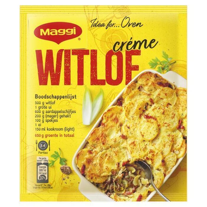 Ovenschotel witlof crèmesaus m. gehakt (Stuk, 61g)