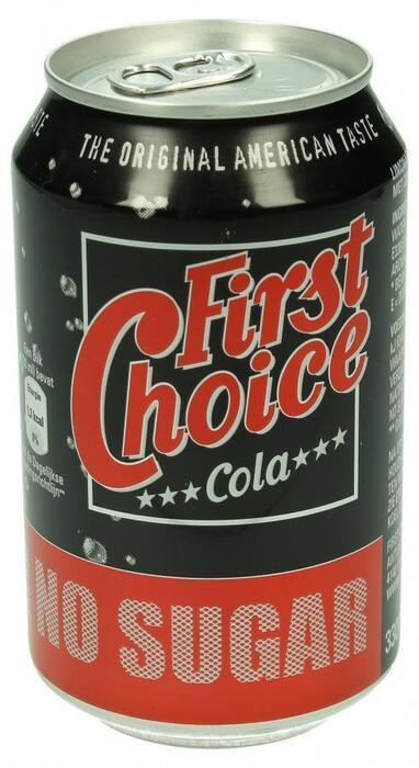 First Choice Cola No sugar (blik, 33cl)