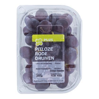 Druiven rood pitloos (250g)