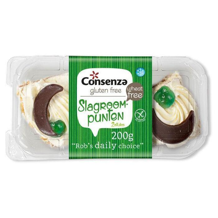Consenza Slagroompunten (glutenvrij) (200g)