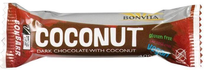 Bonbarr Dark chocolate & Coconut bar (wikkel, 40g)