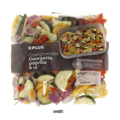 Ovengroente courgette, paprika, ui (600g)
