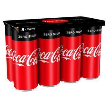 Coca-Cola zero sugar (rol, 8 × 250ml)