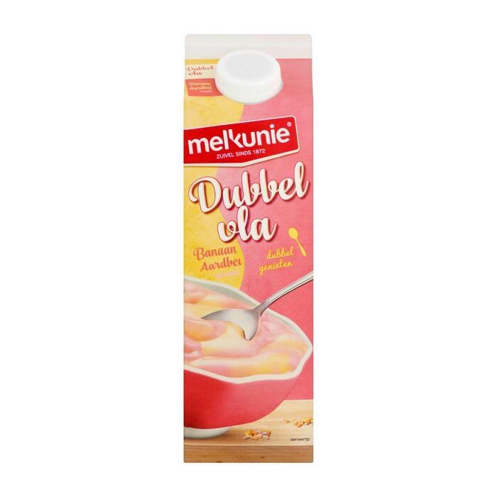Dubbel vla aardbei-banaan smaak (pak, 1L)