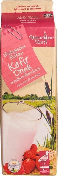 Kefir drink aardbei/ framboos (1L)