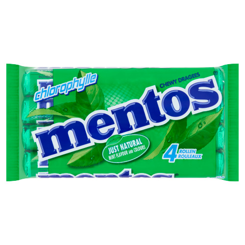 Mentos Chewy Dragees Chlorophylle 4 x 37,5 g (8 × 37.5g)