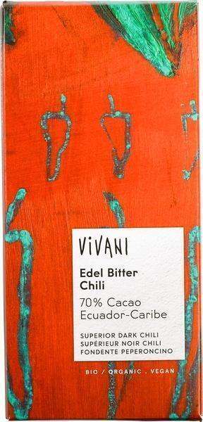 Vivani ecuador edel bitter chili (100g)
