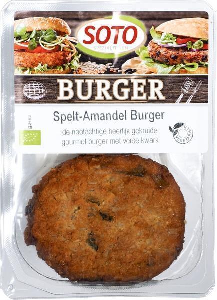 Spelt Amandel Burger (bak, 200g)