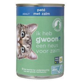 g'woon Kattenvoer adult paté met zalm (400g)
