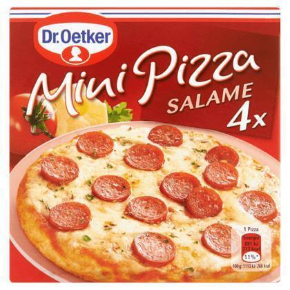 Mini Pizza Salame (Stuk, 4 × 352g)