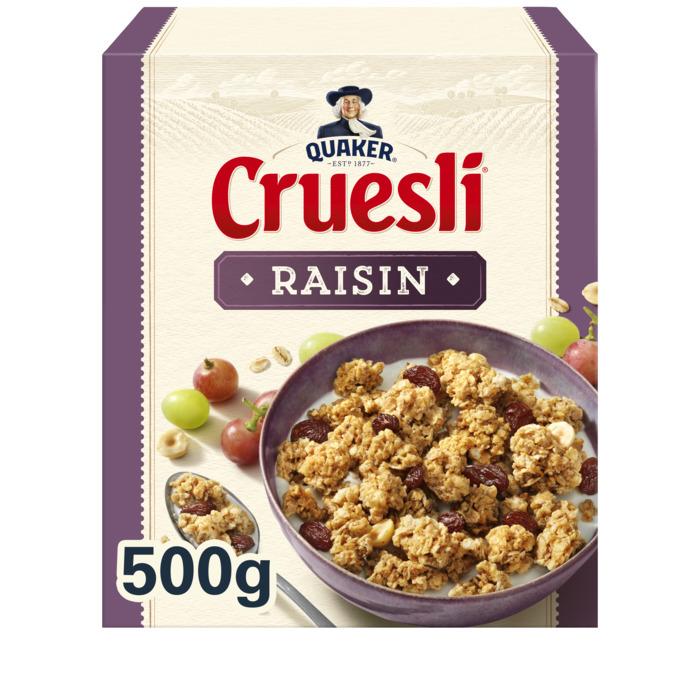 Cruesli rozijn (doos, 500g)