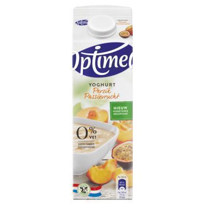 Perzik Maracuja yoghurt 0% vet (Stuk, 1L)
