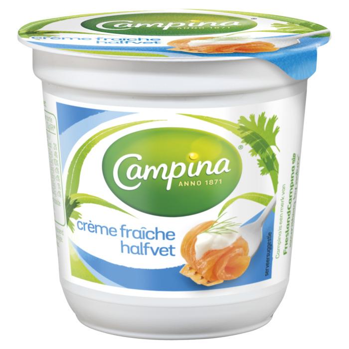 Campina room demi crème fraîche 125 g beker (125g)