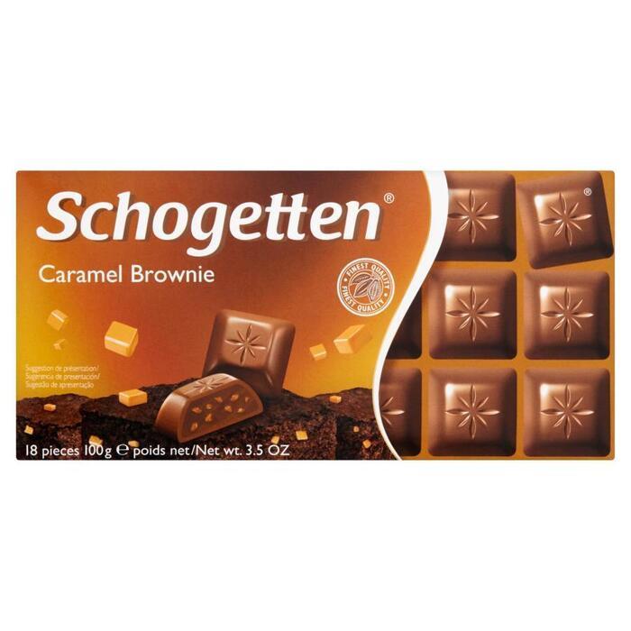Schogetten Caramel Brownie 100 g (Stuk, 18 × 100g)
