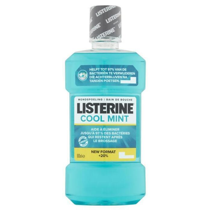 Listerine Antibacterieel mondwater coolmint (0.6L)