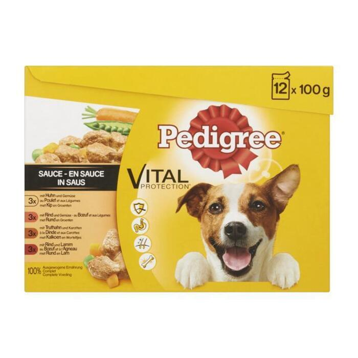 Pedigree Adult Vital Protection in Saus 12 x 100 g (12 × 100g)
