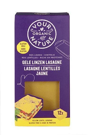 Gele linzen lasagne (250g)