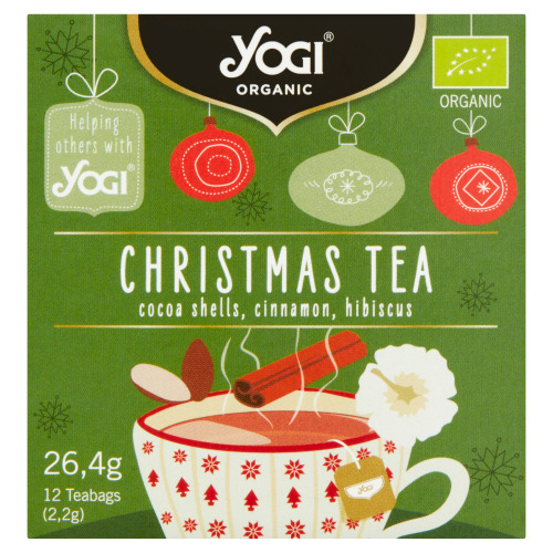 Yogi Organic Christmas Tea Cocoa Shells, Cinnamon, Hibiscus 12 Stuks 26,4 g (26.4g)