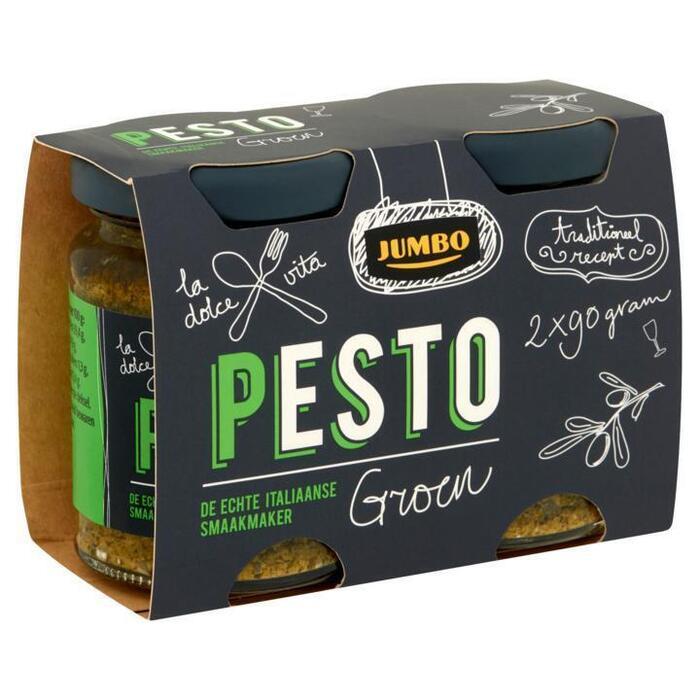 Jumbo Pesto Groen 2 x 90g (2 × 90g)