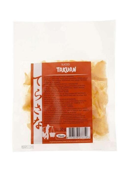 Takuan gesneden/Pickled Daikon Radijs TerraSana 50g (50g)