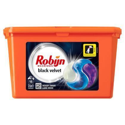 Robijn 3-in-1 capsules black velvet (0.75L)
