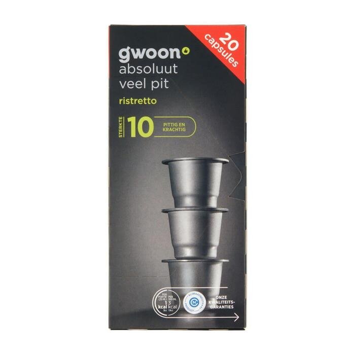 g'woon Cups ristretto (20 × 5g)