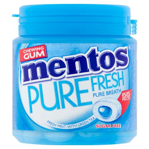 Mentos Chewing Gum Pure Fresh Sugar Free 55 Stuks 110 g (55 × 110g)