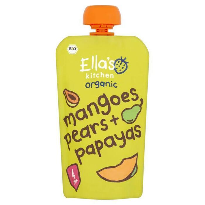 Ella's Kitchen Organic Mangoes Pears + Papayas 4+ Maanden 120 g (120g)