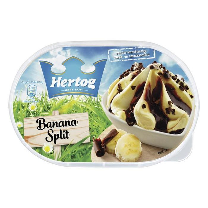 Hertog Banana Split 900ML 6x (Stuk, 0.9L)