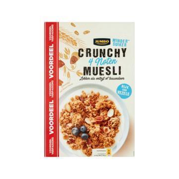 Jumbo Crunchy Muesli 4 Noten Voordeelverpakking 900 g (900g)