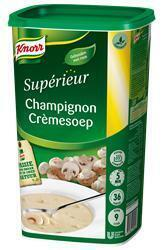 Knorr Sup Champignonroomsoep 0.9Kg 6X (fles, 6 × 900g)