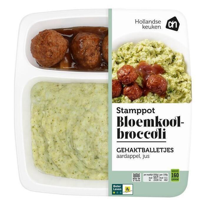 Hollandse stamppot bloemkool-broccoli (500g)