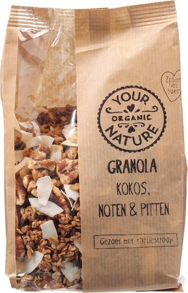 Granola - kokos, noten & pitten (375g)