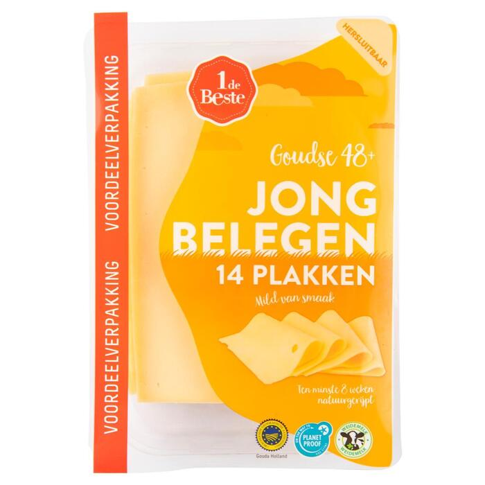 Jong belegen kaas 48+ voordeelverpakking (400g)