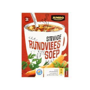 Jumbo Stevige Rundvlees Soep 3 Zakjes 35, 1g (35.1g)