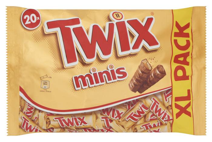 Twix Minis XL Pack 20 Stuks 443 g (Stuk, 20 × 22.2g)