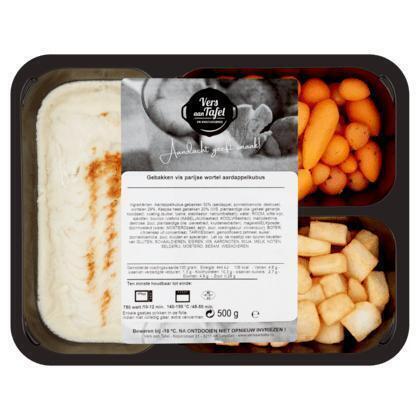 Vers Aan Tafel Gebakken Vis Parijse Wortel Aardappelkubus 500 g (500g)