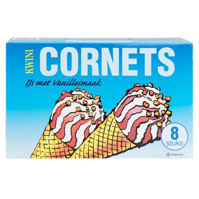 Cornets vanille 8 stuks (0.96L)