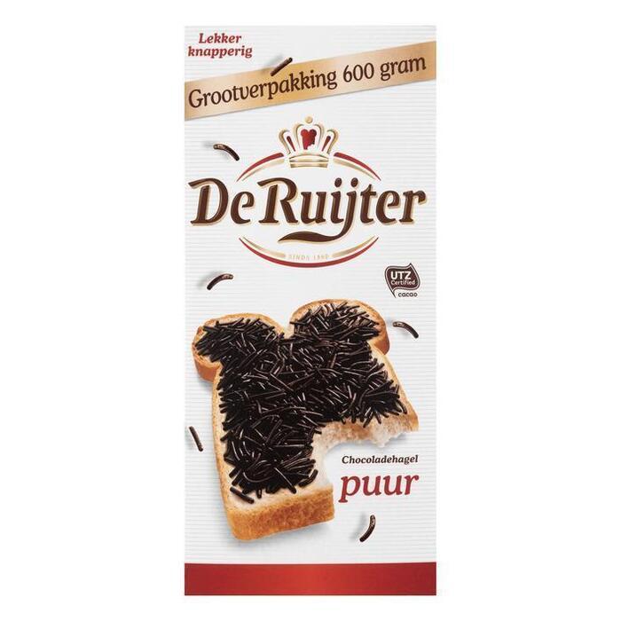 De Ruijter Chocoladehagelslag Puur 600 g Doos (600g)