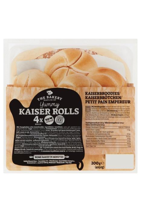 The Bakery Yummy Kaiser Rolls 4 x 50 g (4 × 50g)