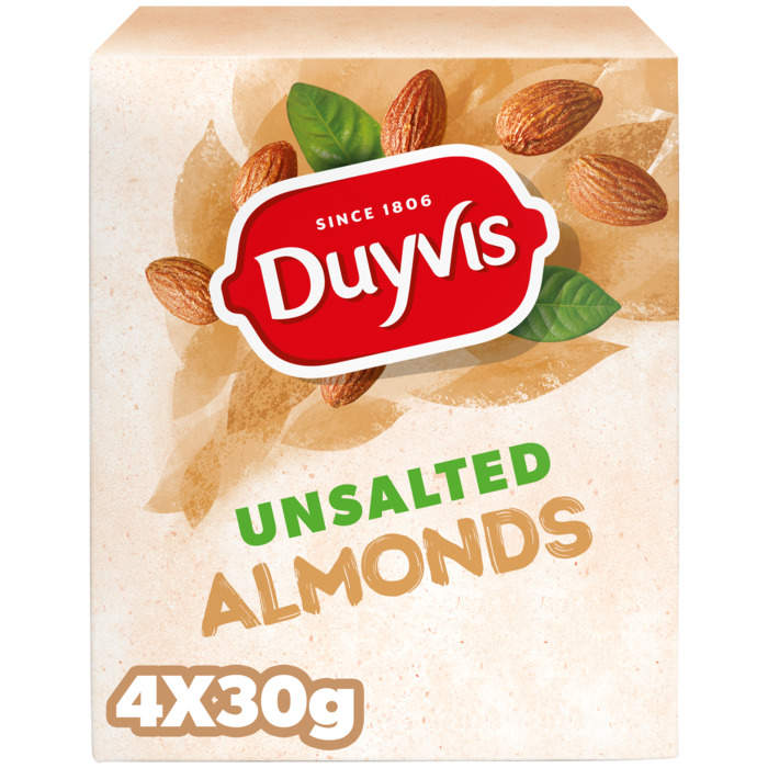 Unsalted almonds (4 × 30g)