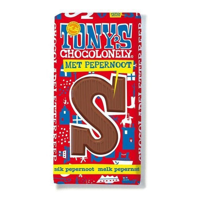 Tony's Chocolonely Letterreep Melk Pepernoot S (180g)