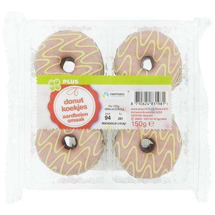 Donutkoekjes aardbei (150g)